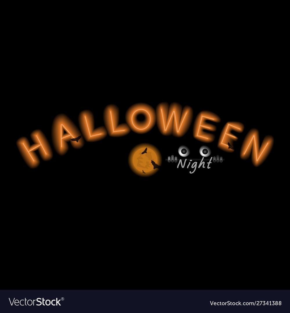Halloween neon signhappy halloween typography