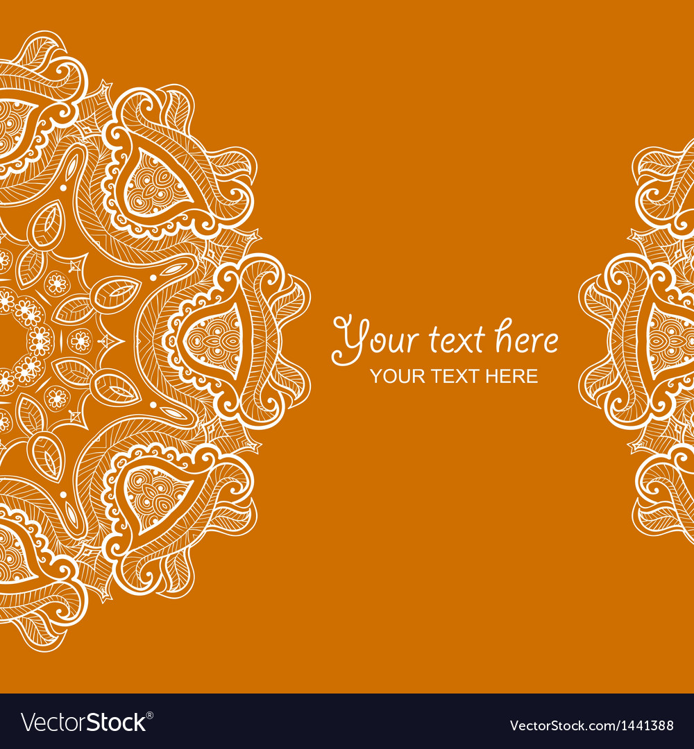 invitation card with lace ornament 1 royalty free vector