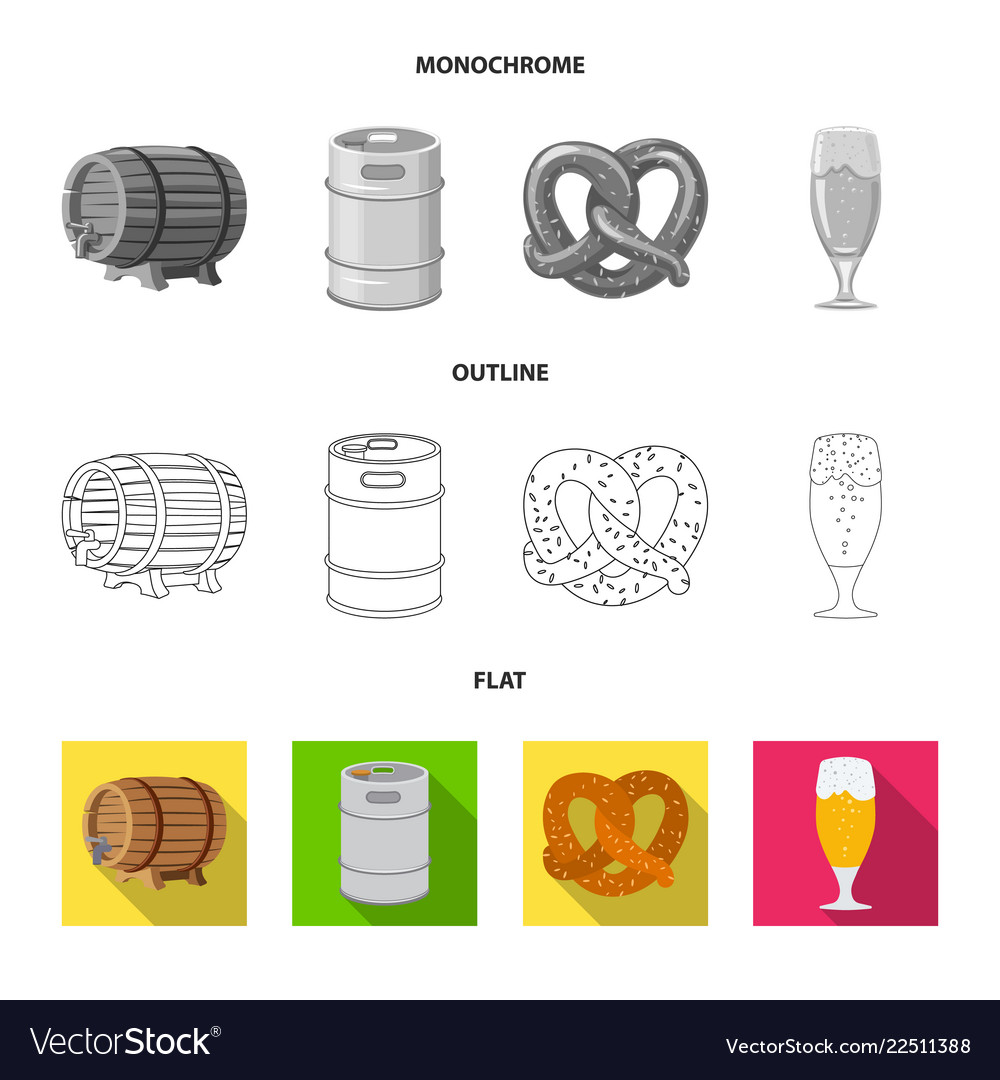 Isolated object of pub and bar symbol set of pub