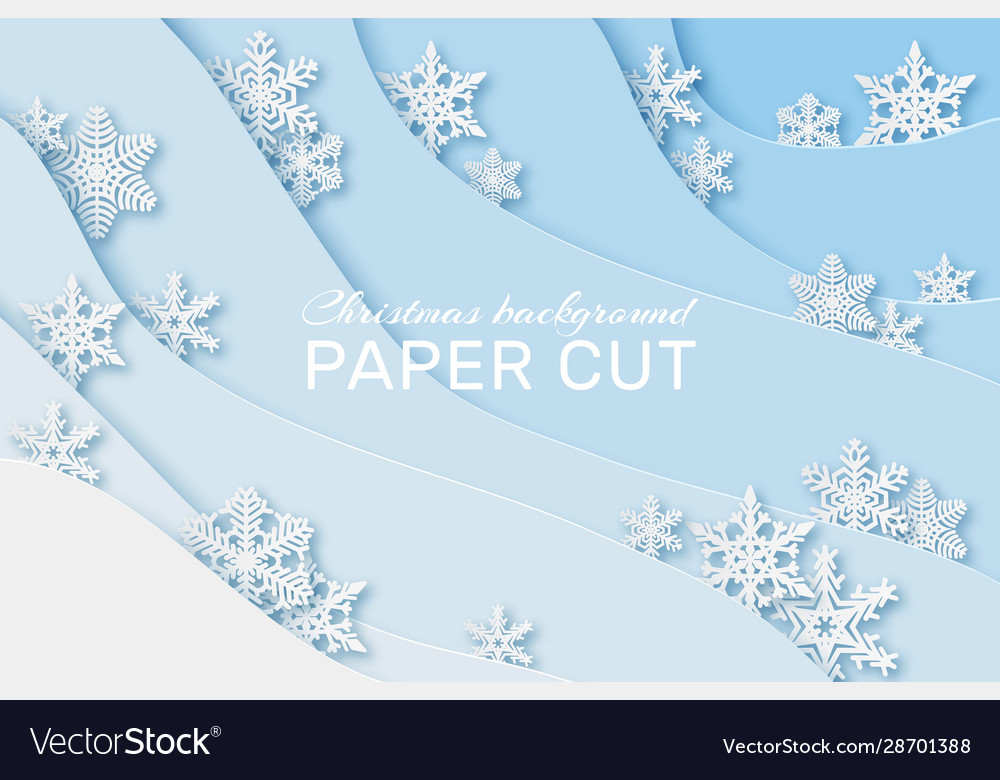 Paper snowflakes background christmas card