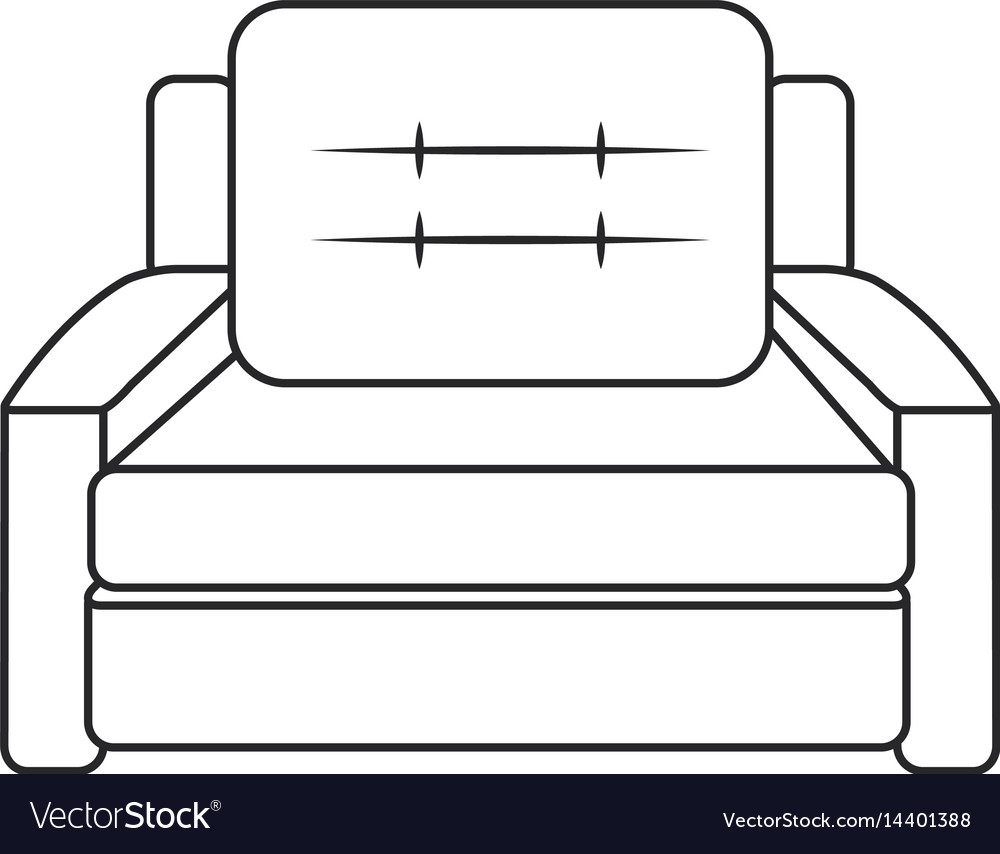 Sofa armchair furniture image outline