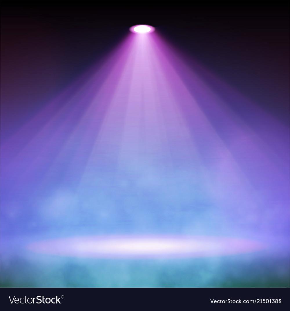 Soft spotlight with smoke in dark
