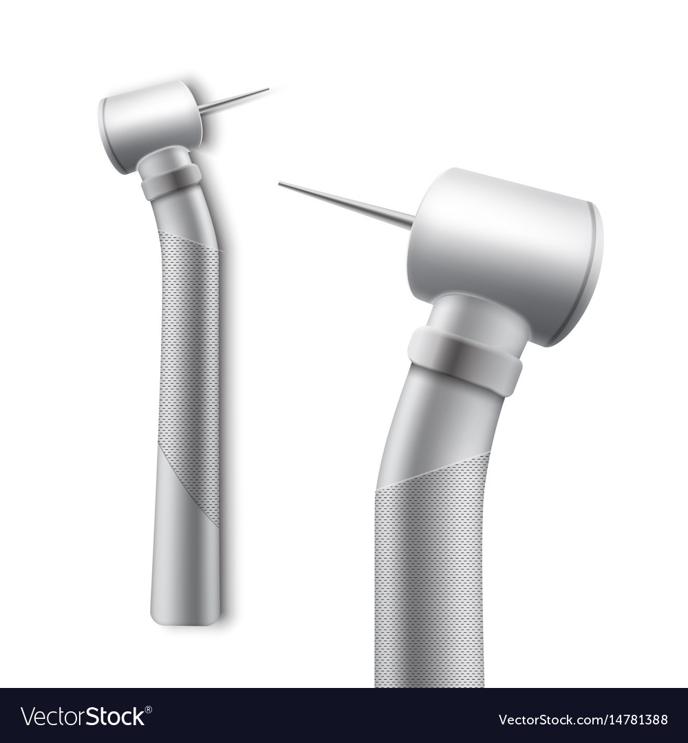 stainless dental drill royalty free vector image