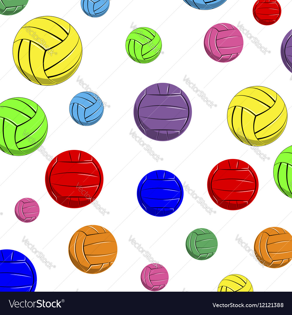 The pattern of color volleyball balls