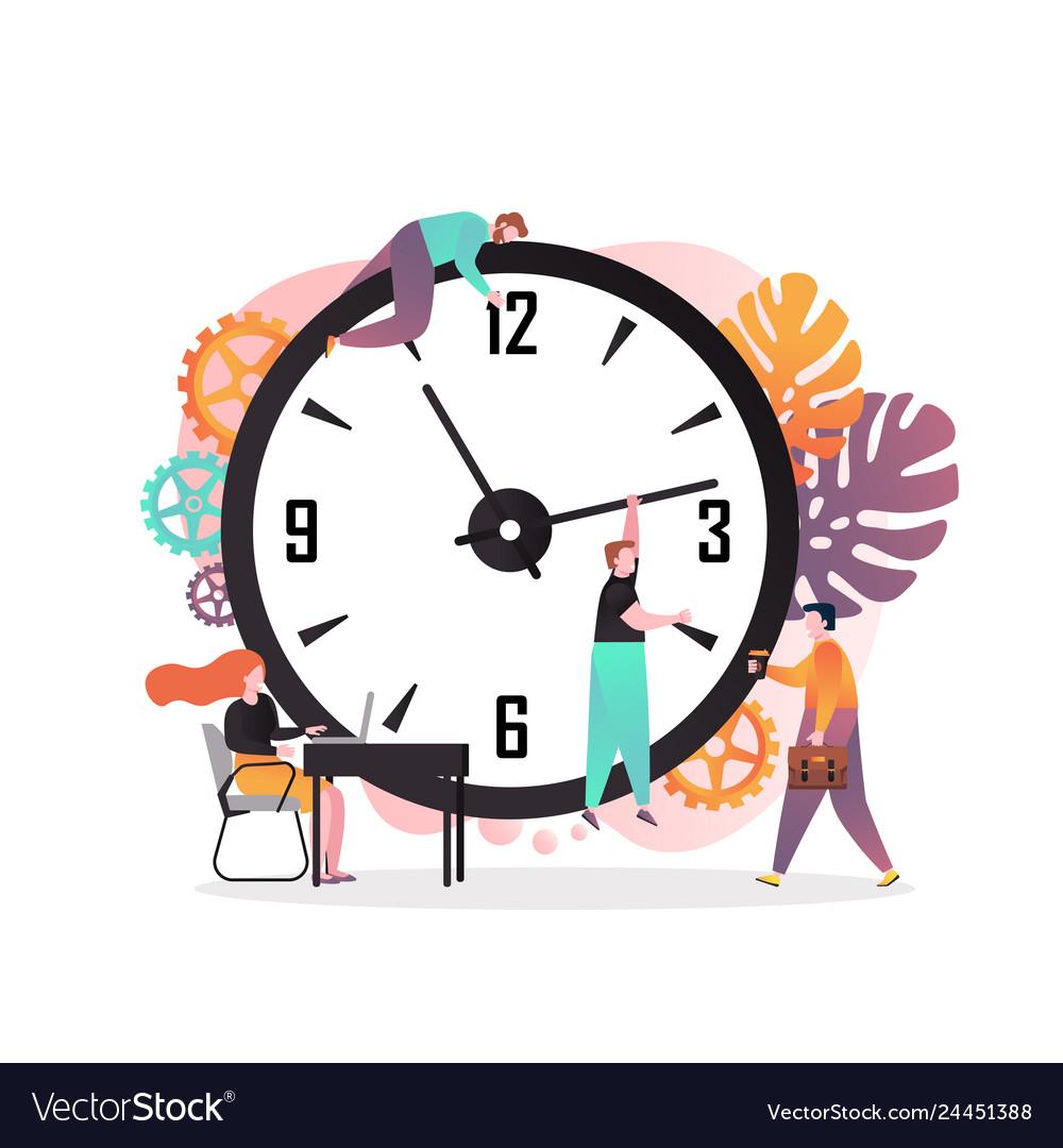 Time management concept for web banner