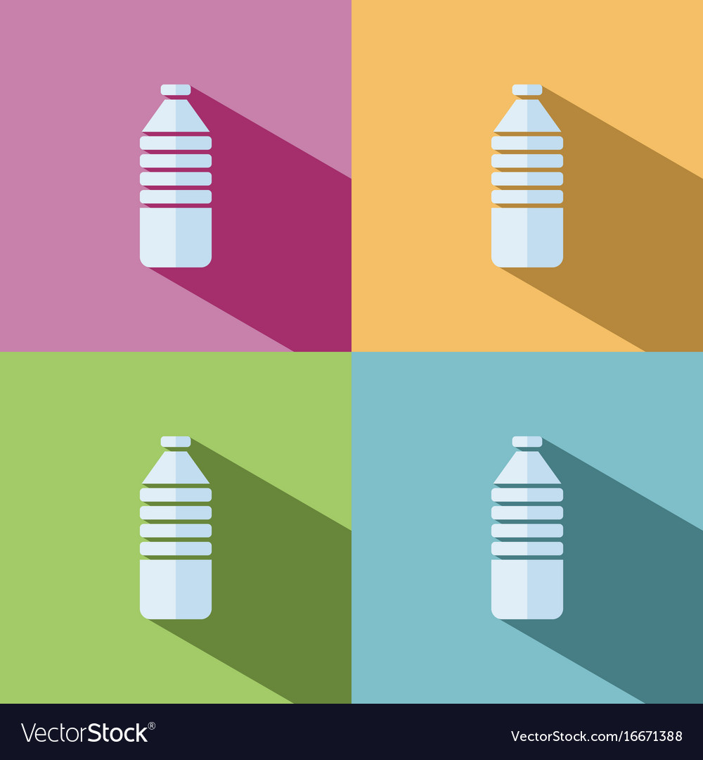 Water bottle icon on colored background