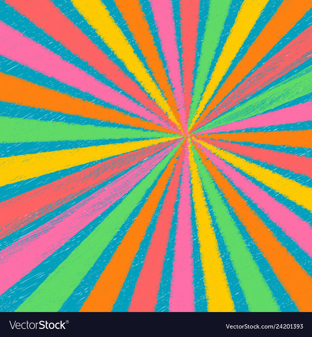 Abstract rainbow pastel color chalk texture rays