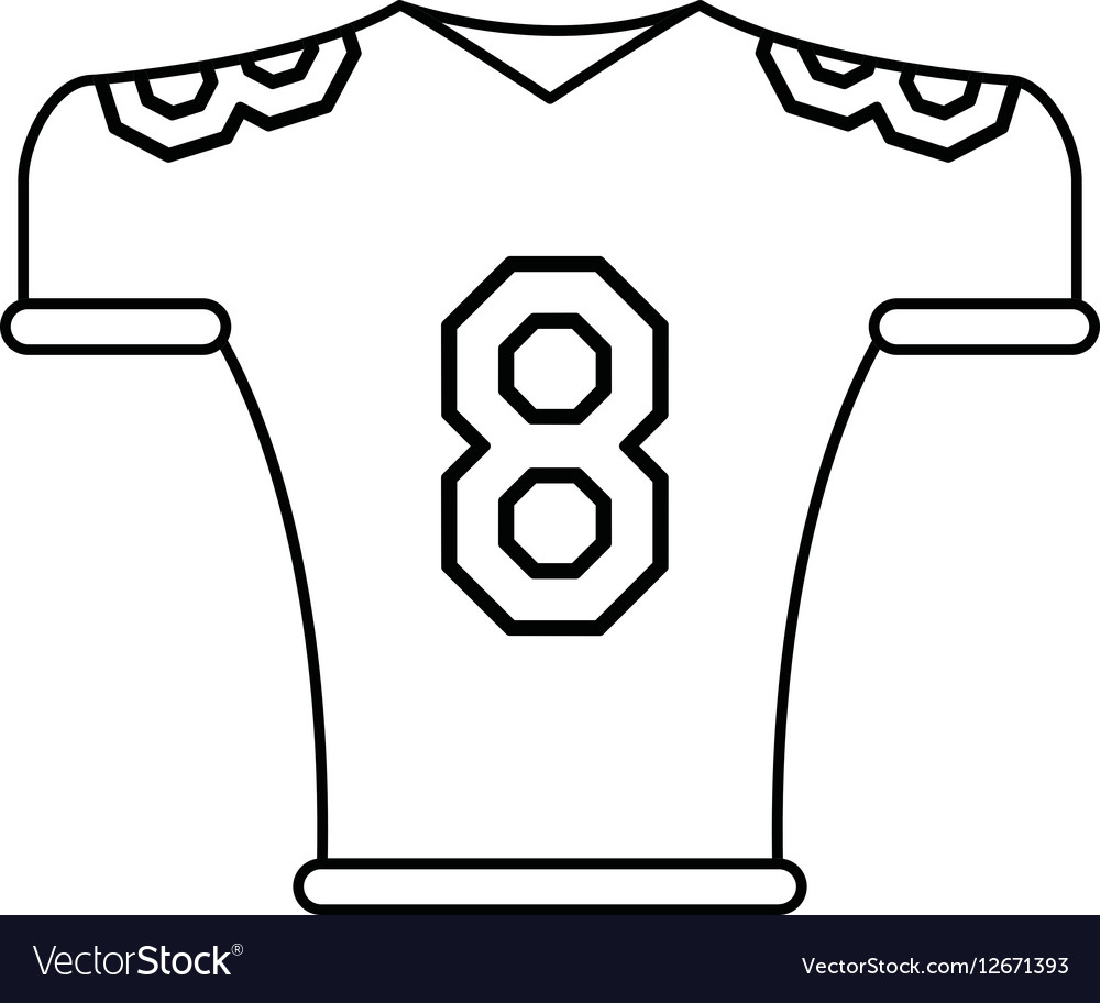 American football jersey uniform tshirt outline