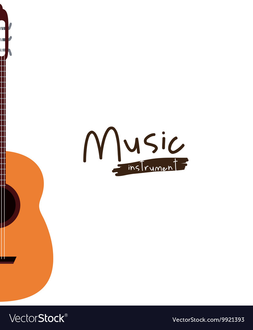 Guitar instrument isolated icon design