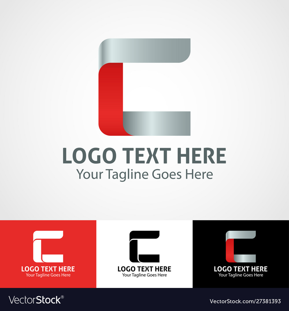 Hi-tech trendy initial icon logo c