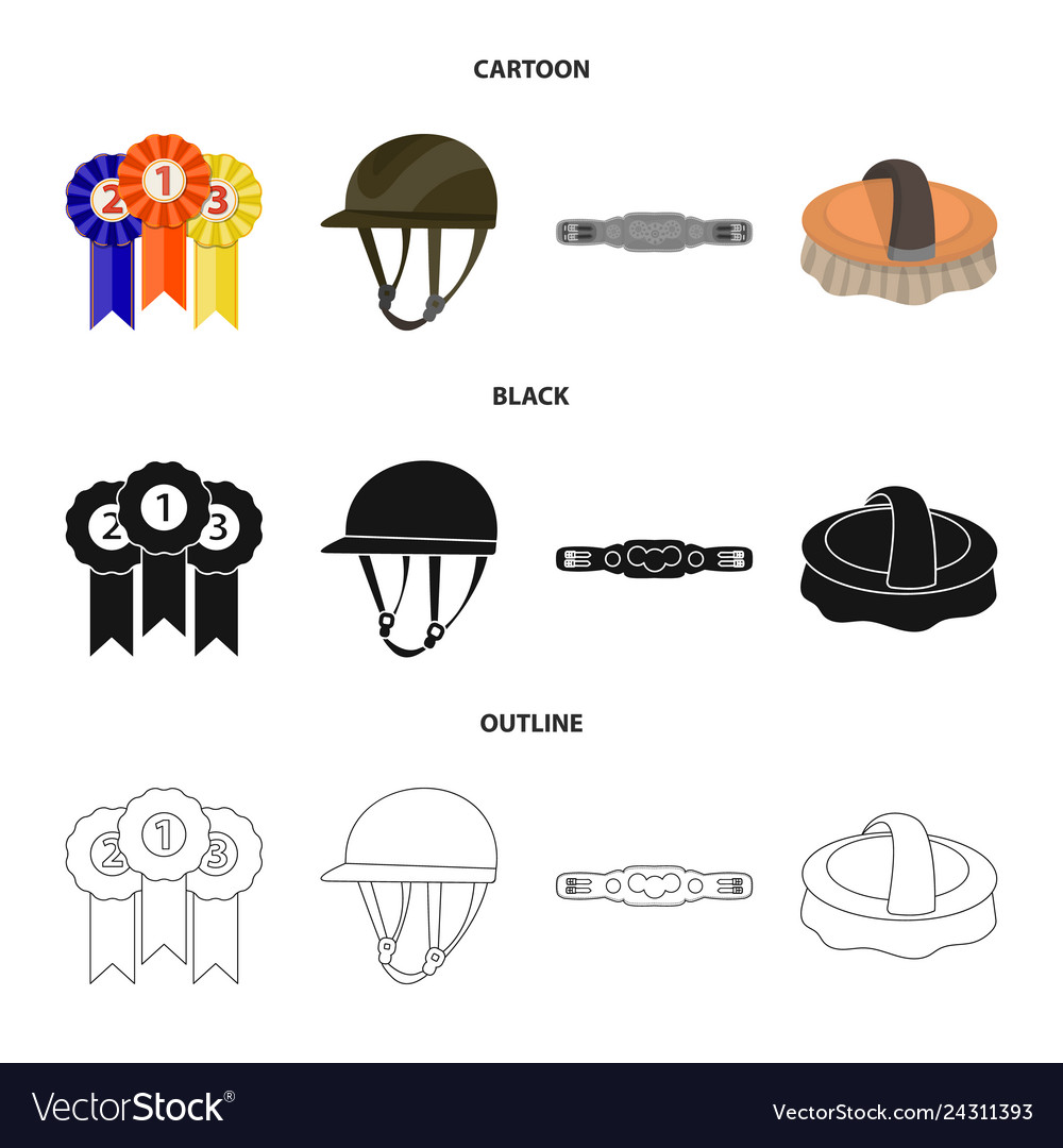 Isolated object of equipment and riding symbol