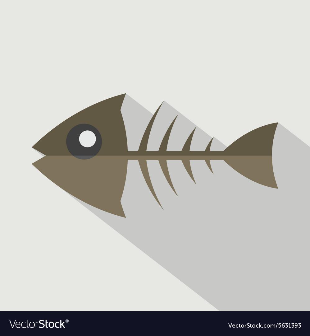 Modern Flat Design Fishbone Icon