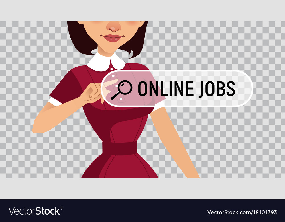 Online recruitment service woman looking for work