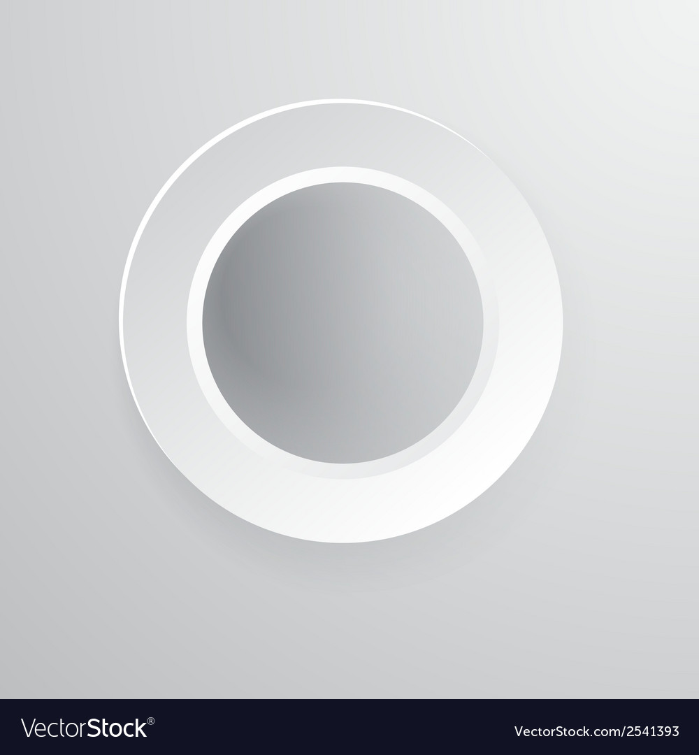 Paper circle banner with drop shadows
