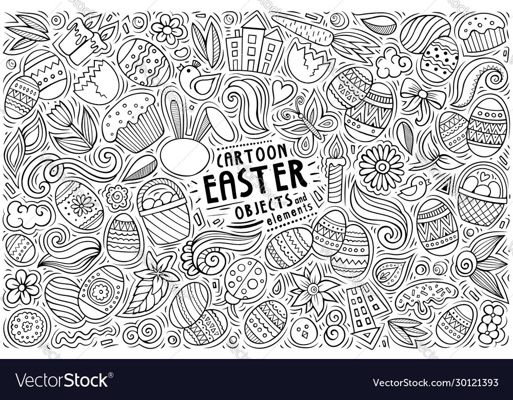 Set easter theme items objects and