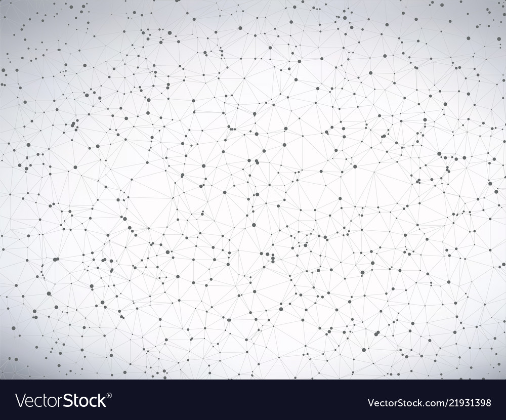 Abstract gray molecule connection background