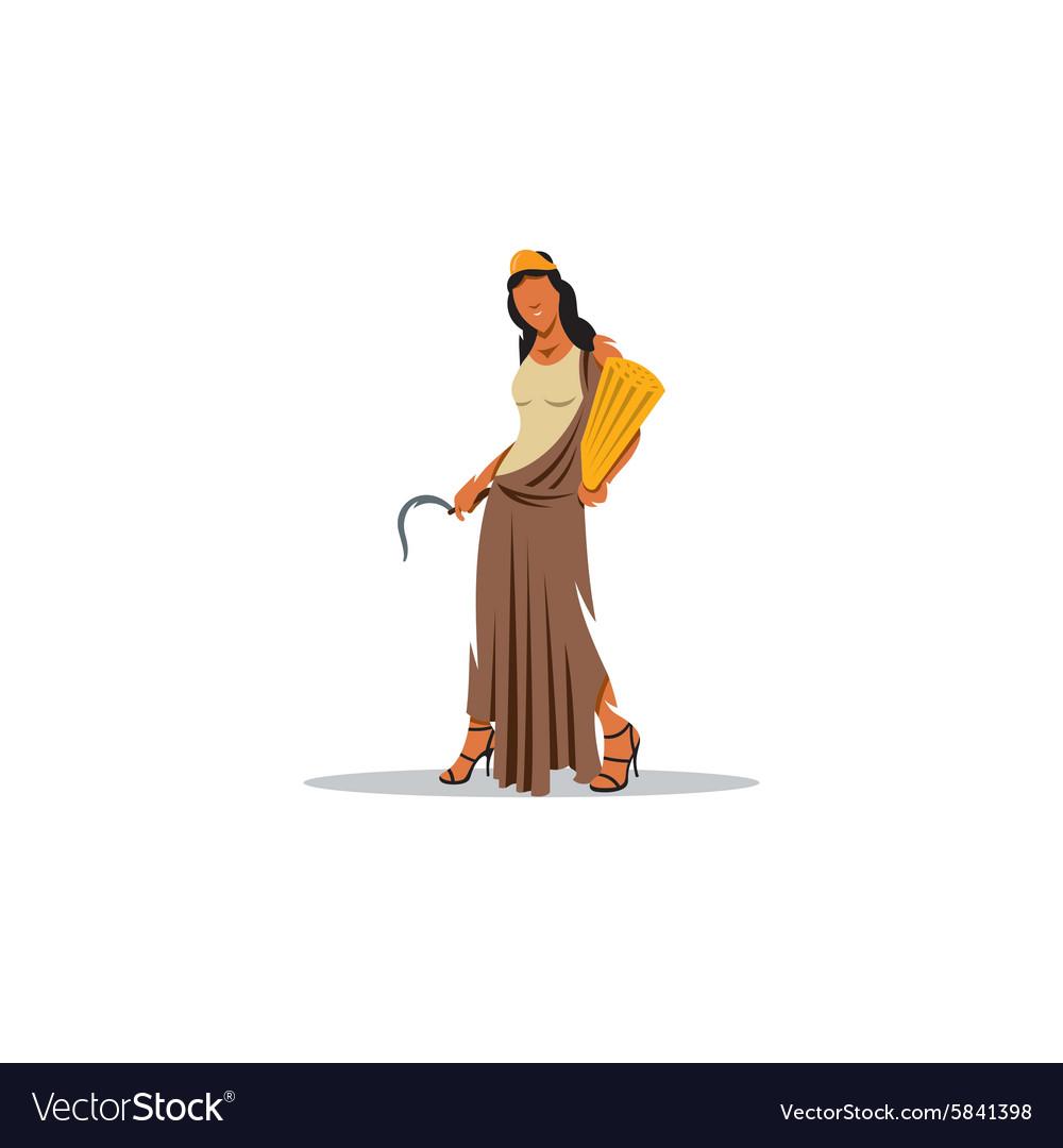 Demeter sign Mythological Greek goddess of vector image