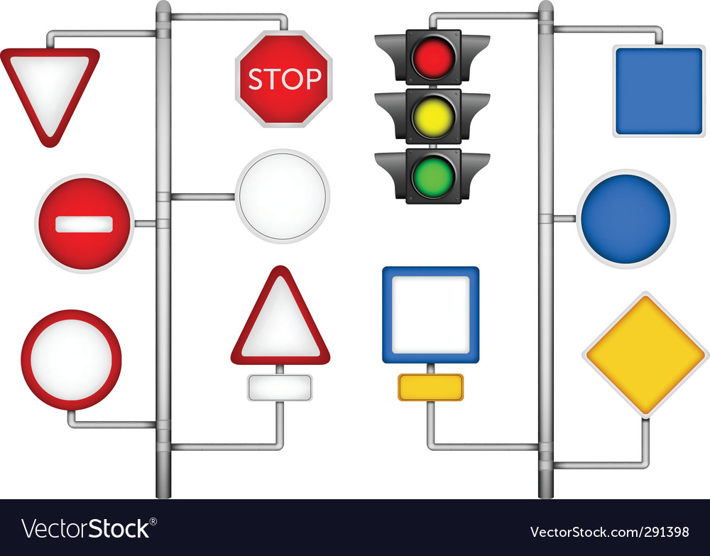 Forms for a road signs vector