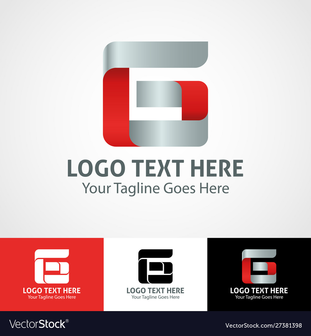 Hi-tech trendy initial icon logo g