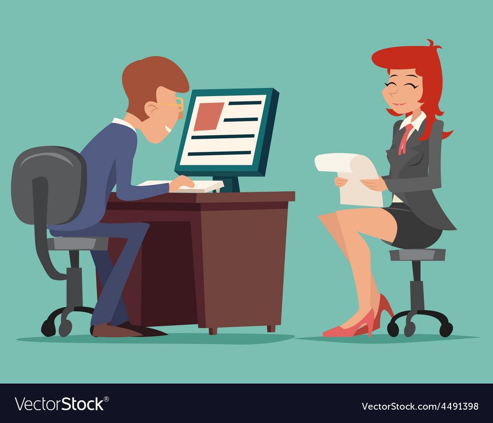 Job Interview Task Conversation Businessman at