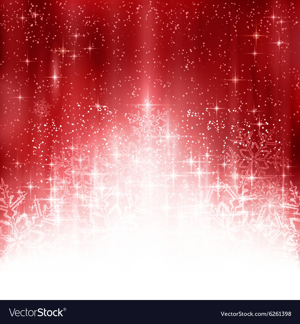 Red white Christmas snowflake background