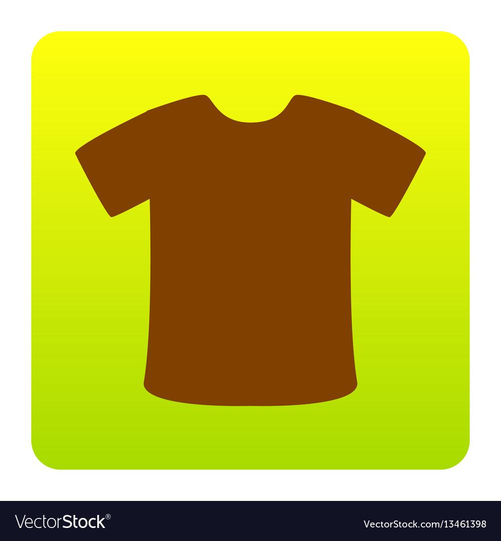 T-shirt sign brown icon at green-yellow