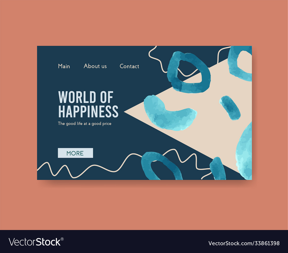 Website template with shopping design