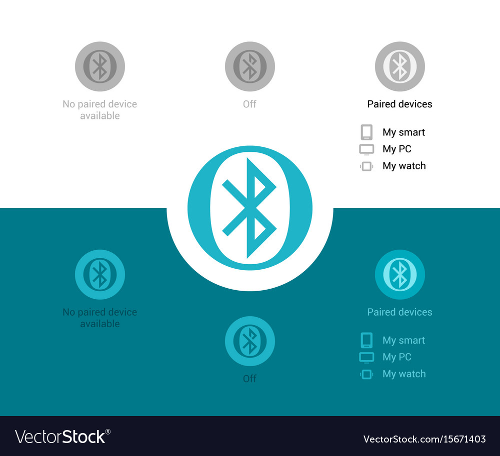 Bluetooth wireless connection vector image