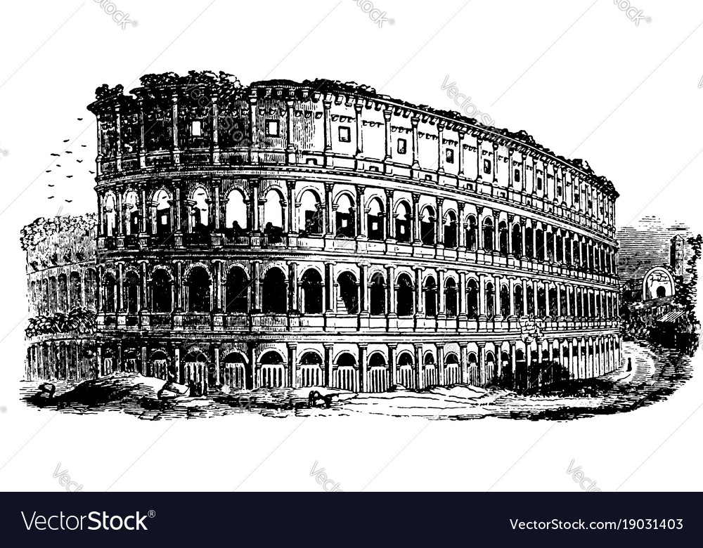 Colosseum an immense amphitheater built vintage
