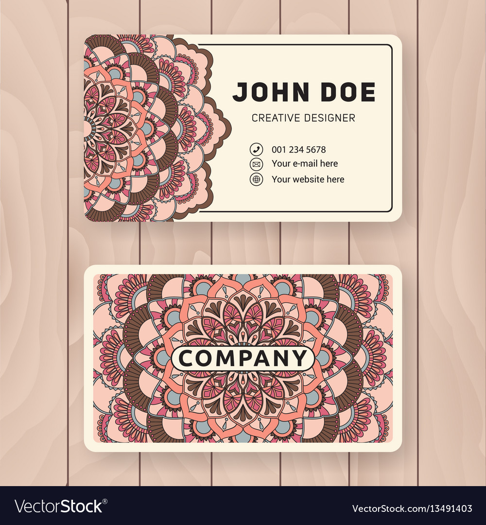 Creative useful business name card design