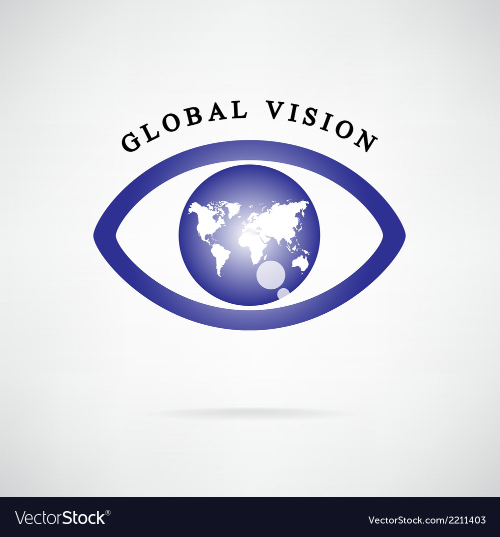 Global vision signeye iconsearch symbol vector image