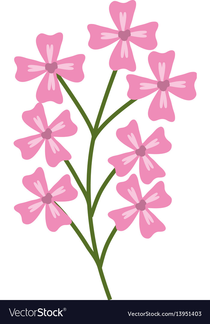 Pink branch flowers decoration