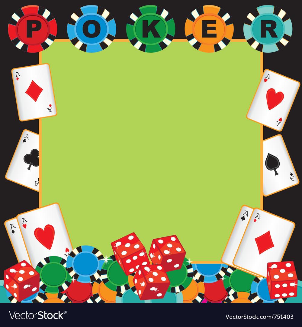 Poker Party Gambling Invitation Royalty Free Vector Image