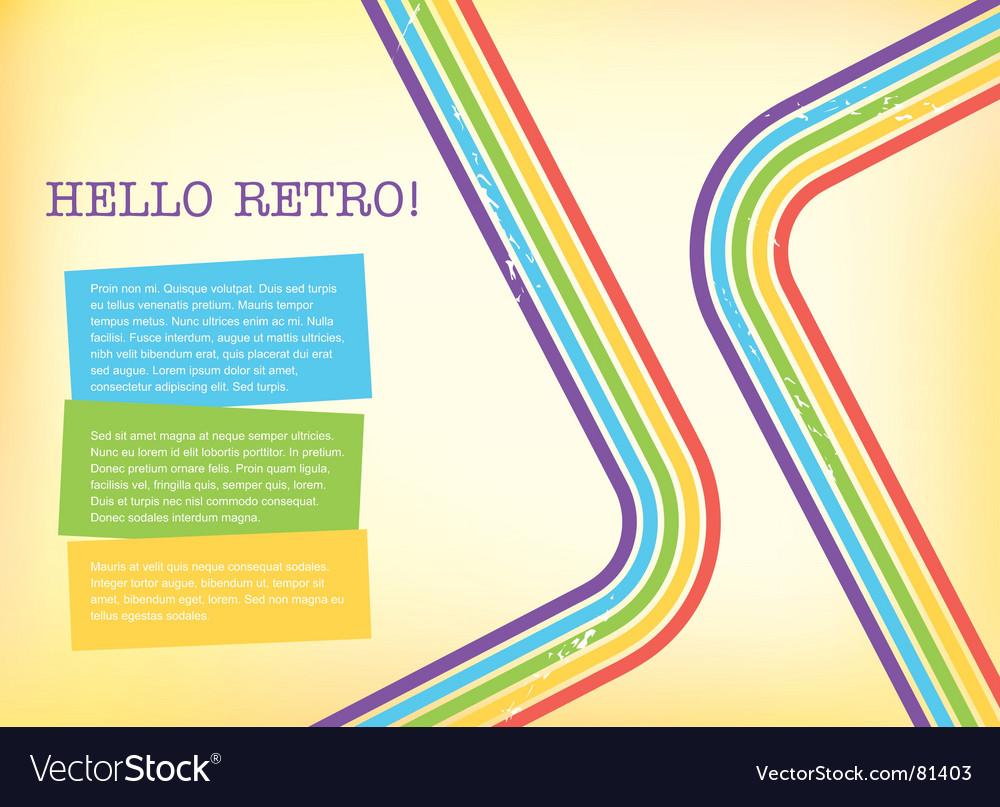 Retro style background