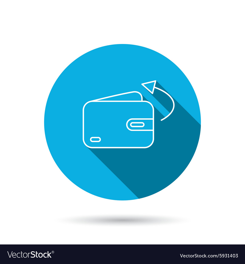 Cash Wallet Sign Royalty Free Vector Image