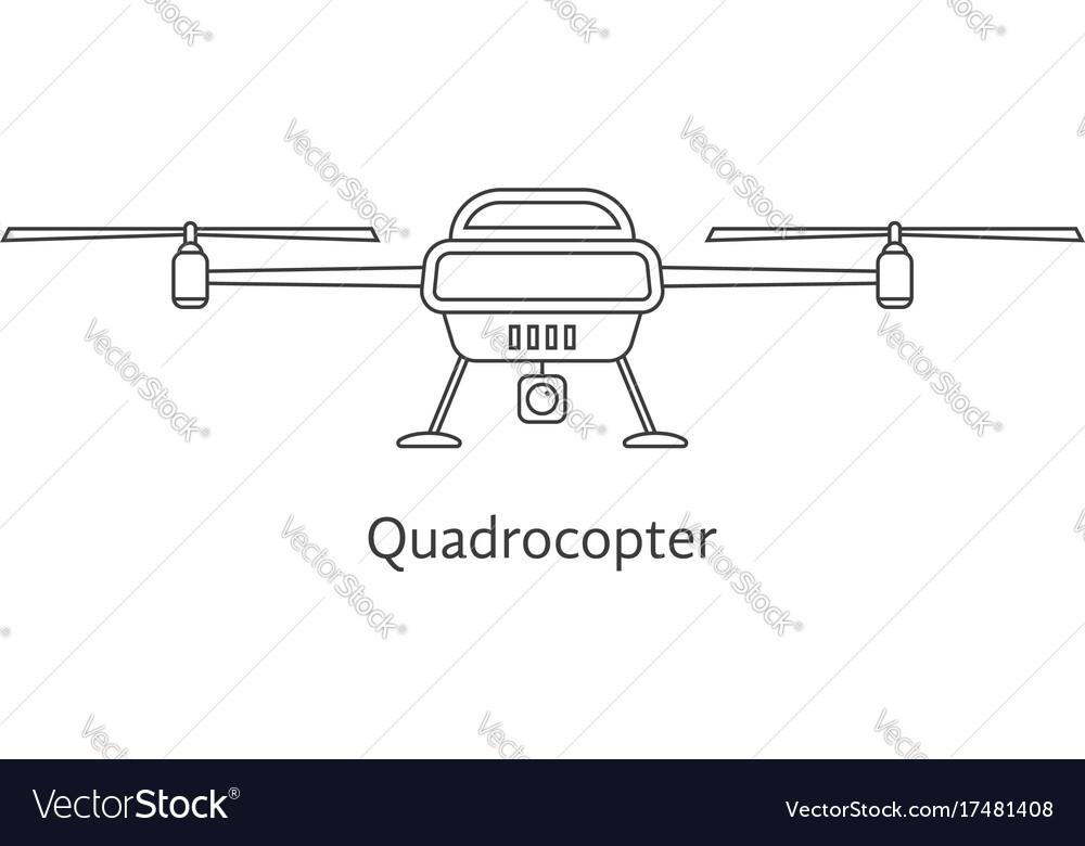 Black thin line quadrocopter