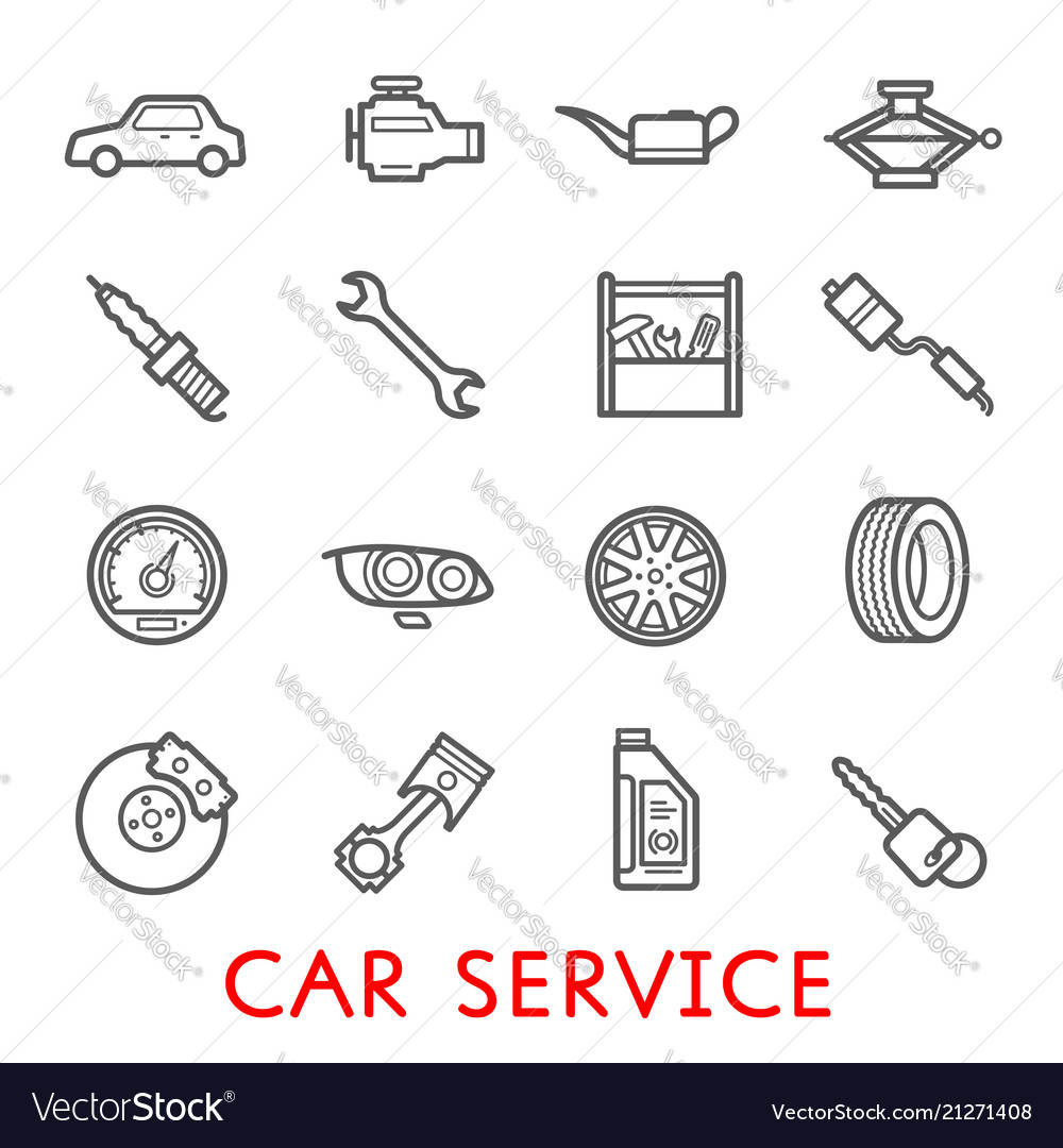 Car service station and auto repair garage icon