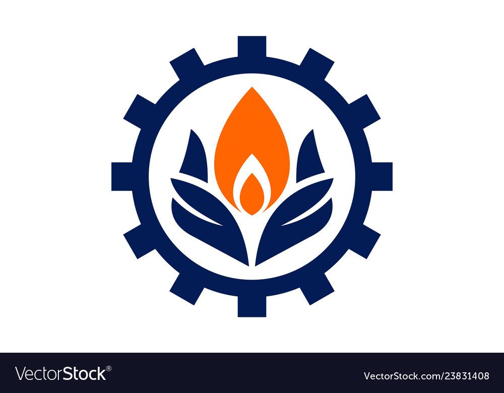 Fire energy power logo concept icon
