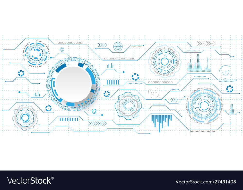 Futuristic interface hud style and infographic