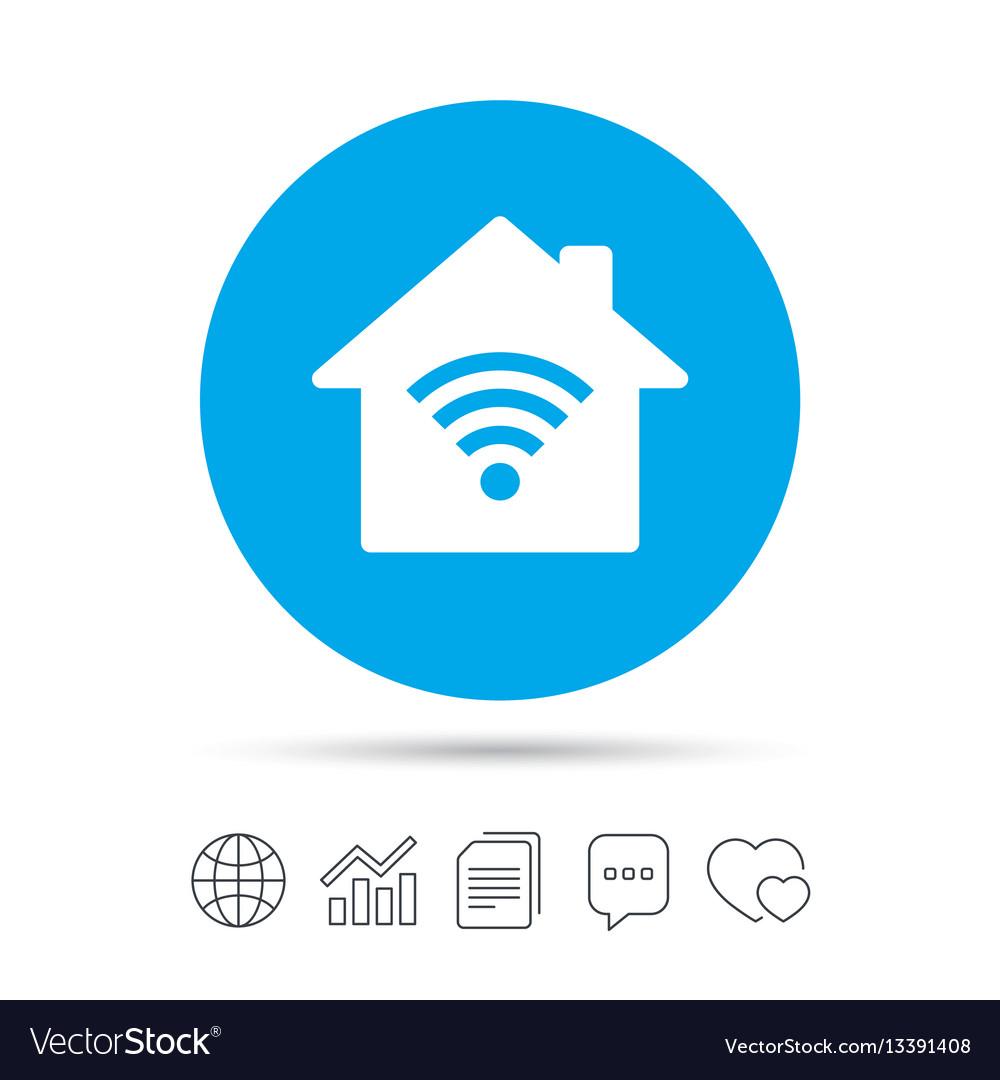 home wifi sign wi fi symbol wireless network vector image Wireless Network Connection Symbol