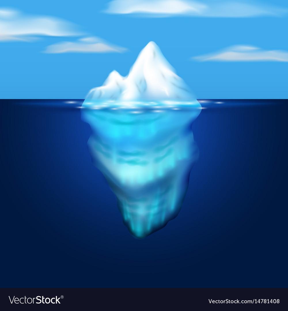 Iceberg block of ice in the sea
