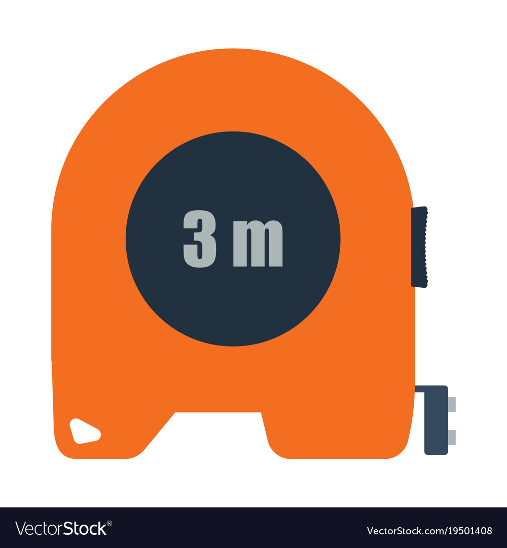 Icon of constriction tape measure vector image
