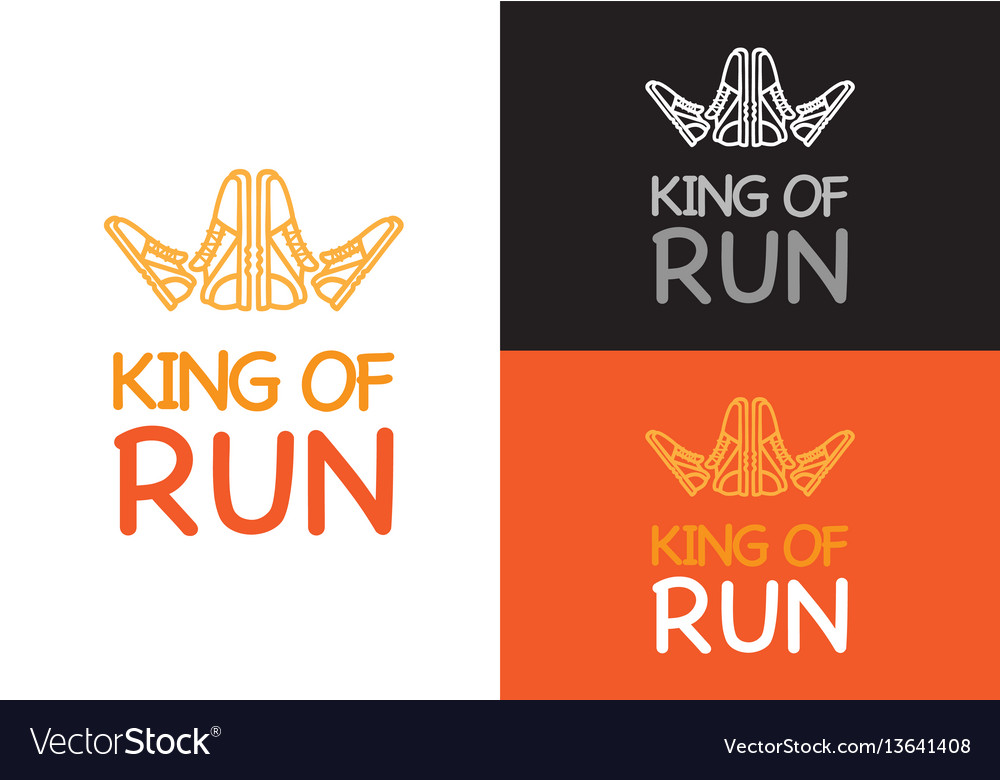 King of run on different background fitness vector image