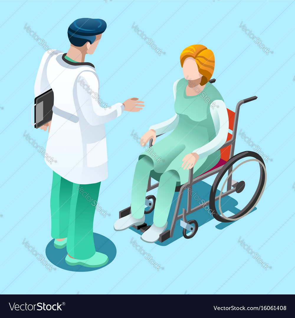 Medical professionals isometric people vector image