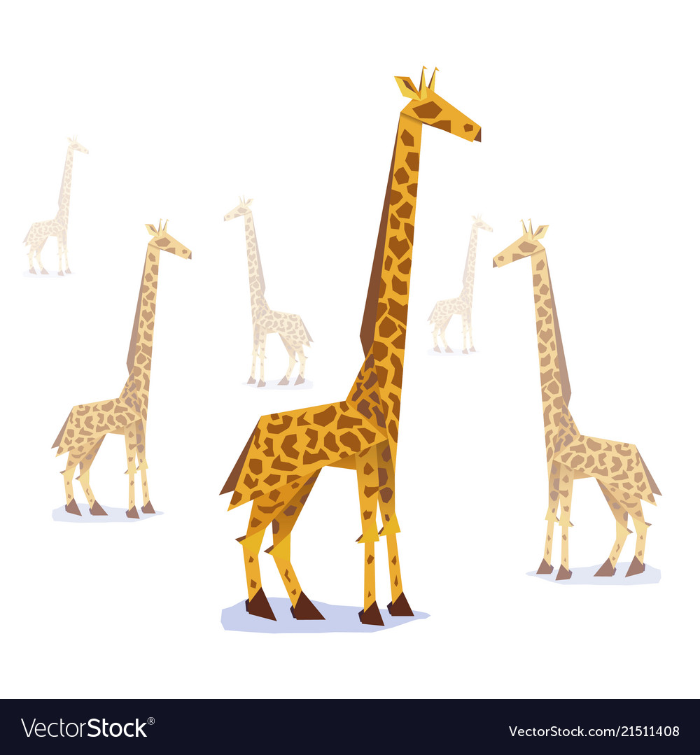 Paper Origami Giraffe Royalty Free Vector Image