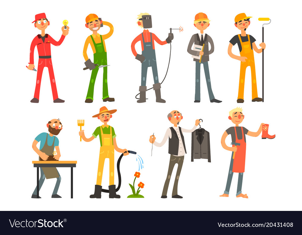 People of different professions and occupations in vector image