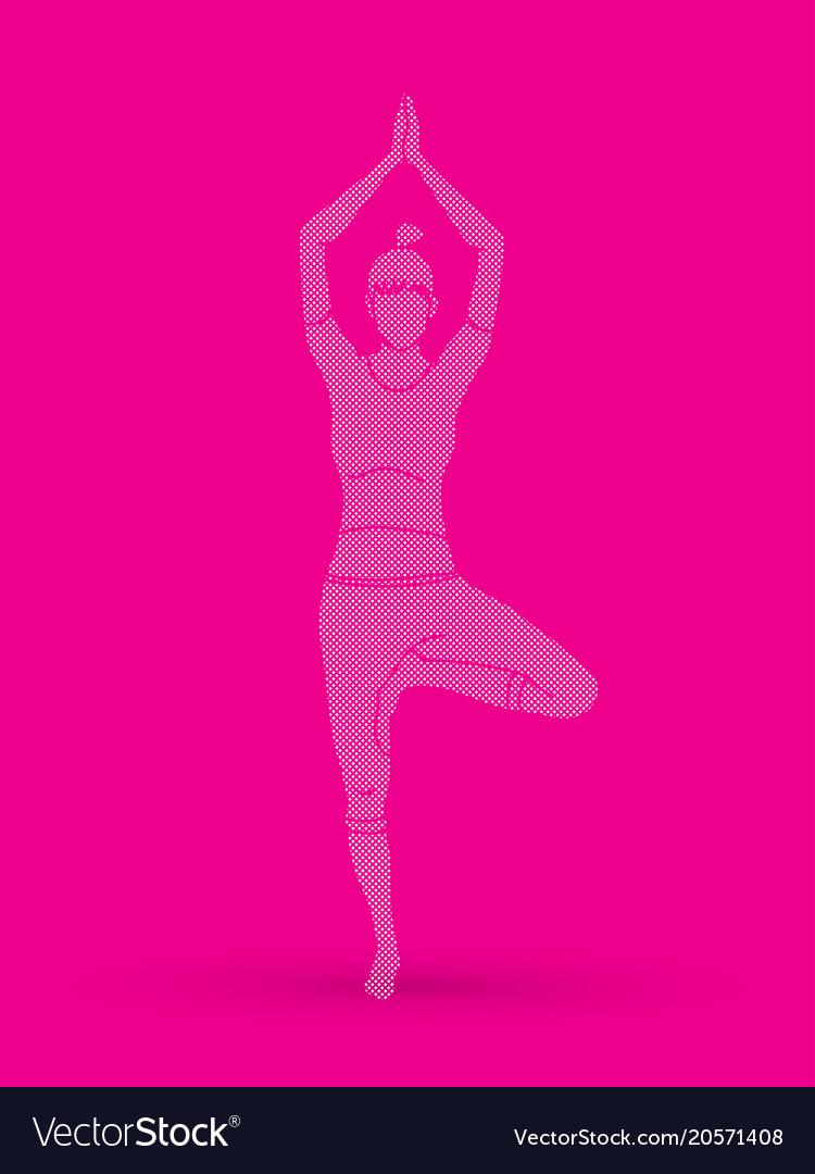 Yoga class a woman practice yoga