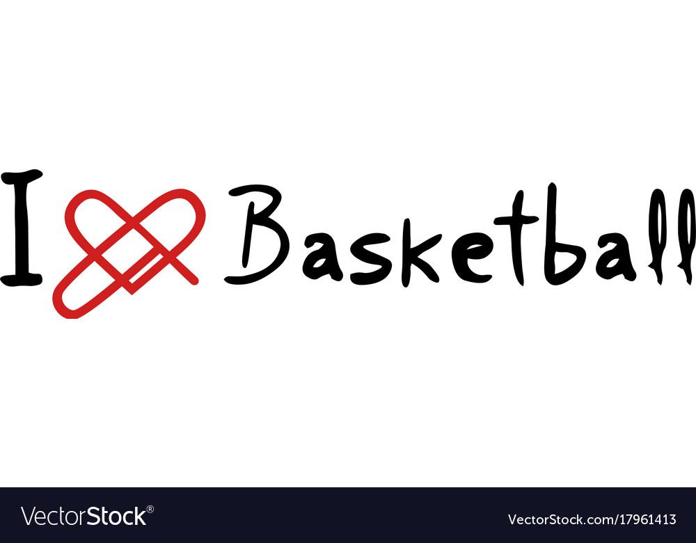 Basketball love icon