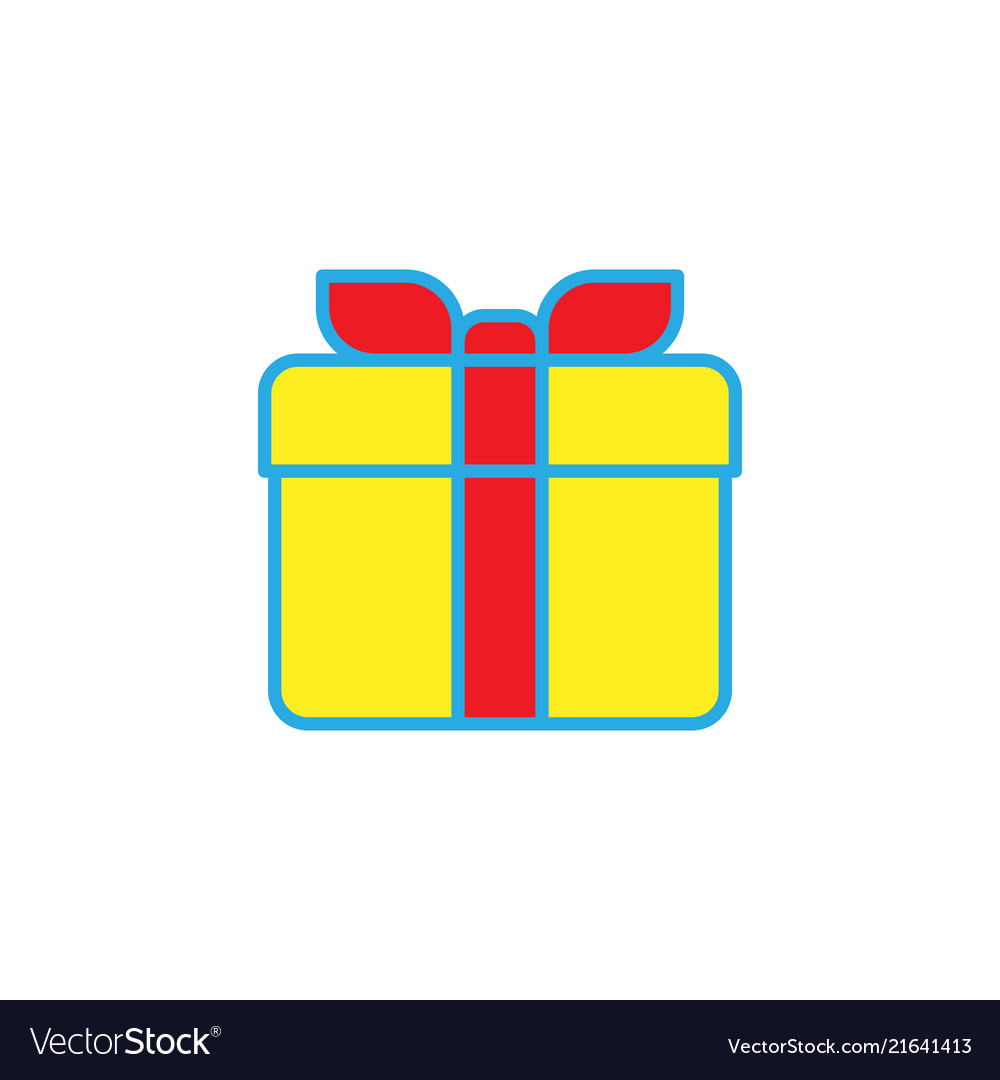 Gift box simple solid icon