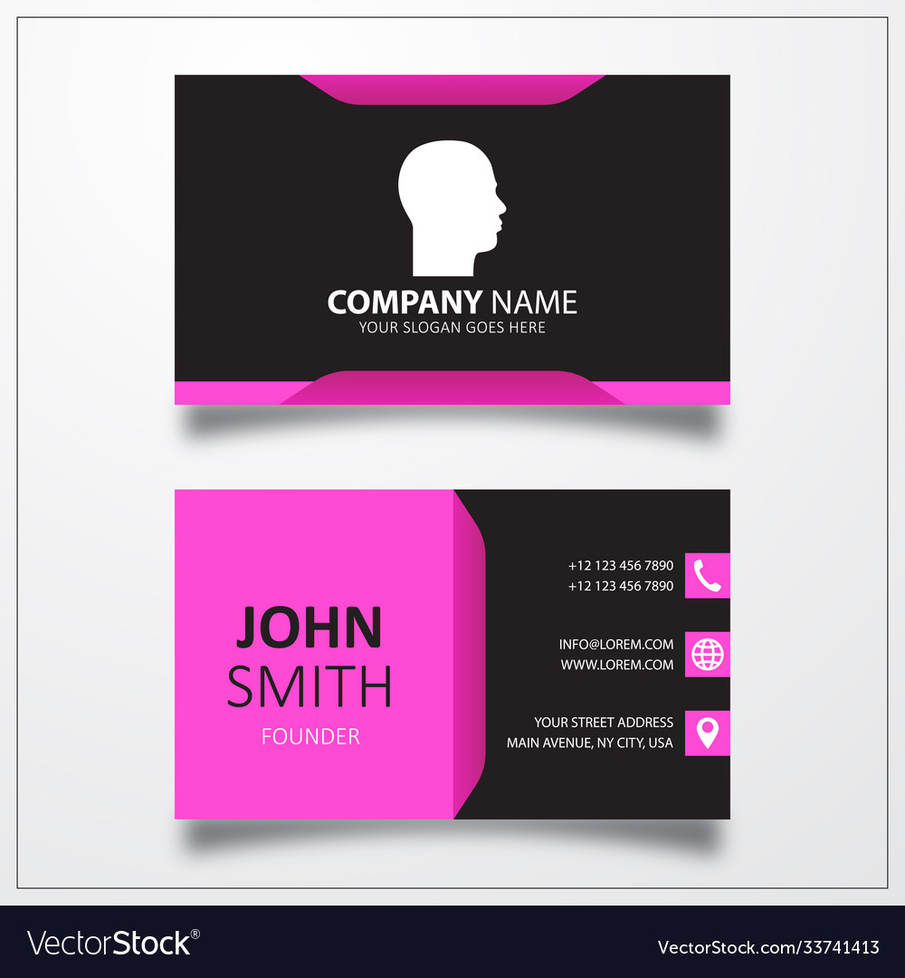 Human head icon business card template